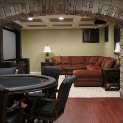 traditional media room by Buckeye Basements, Inc.