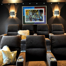 Home Theater by Paige Merchant Designs