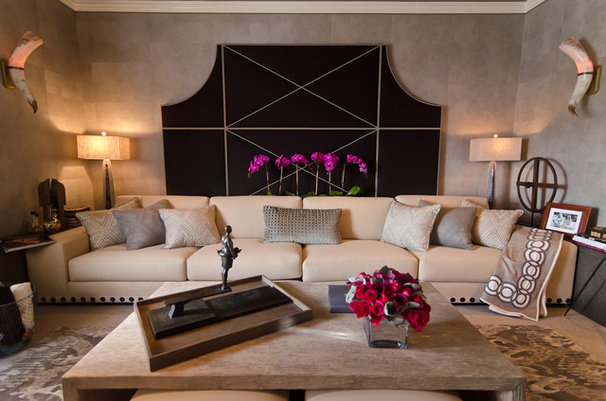 Contemporary Home Theater by Alex Amend Photography