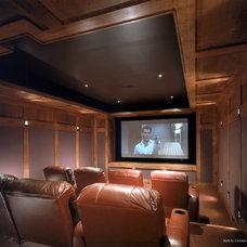 Modern Home Theater by Christian Tennant Custom Homes