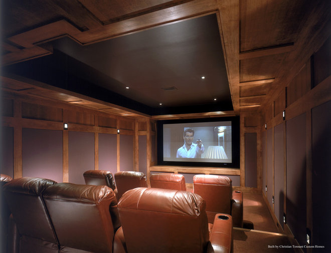 Modern Home Theater by Christian Tennant Custom Homes