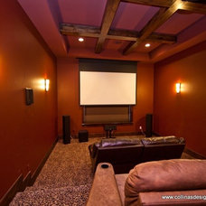 Traditional Home Theater by Collinas Design & Construction
