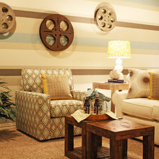 traditional media room by Cristi Holcombe Interiors, LLC