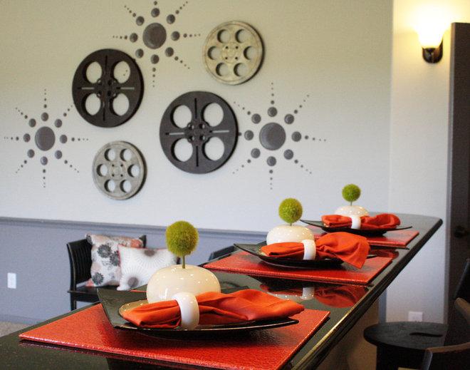 Modern Home Theater by Cristi Holcombe Interiors, LLC