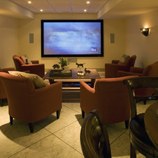 Traditional Home Theater by Current Works Construction Inc.