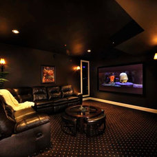 Traditional Home Theater by Design Evolution Enterprises Inc