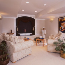 Contemporary Home Theater by Design Studio -Teri Koss