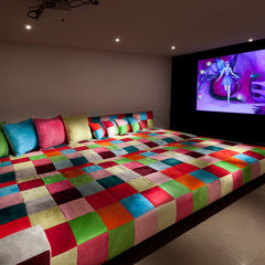 eclectic media room by Elad Gonen & Zeev Beech