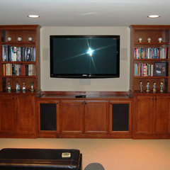traditional media room by Elizabeth P. Lord Residential Design