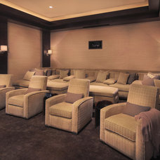 Contemporary Home Theater by Garrity Design Group