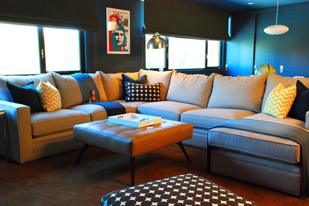 Eclectic Home Theater by Glamour Nest