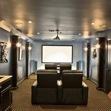 Traditional Home Theater by Green Homes