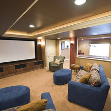 Traditional Home Theater by Pine Street Carpenters & The Kitchen Studio