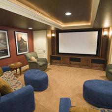 Contemporary Home Theater by Pine Street Carpenters & The Kitchen Studio