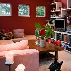 Eclectic Home Theater by Jane Ellison