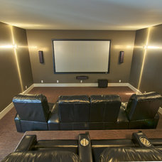 Modern Home Theater by JayWest Country Homes