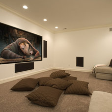 Eclectic Home Theater by John Kraemer & Sons