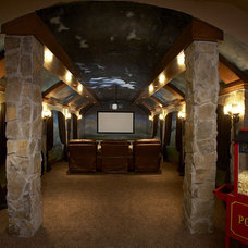 Mediterranean Home Theater by John Termeer