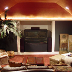 mediterranean media room by John Termeer