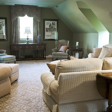 Eclectic Home Theater by Kirsten Nease Designs