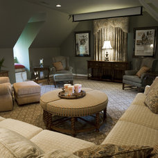 Traditional Home Theater by Kirsten Nease Designs