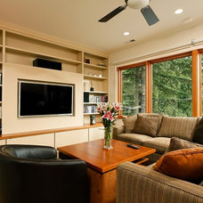 Contemporary Home Theater by Landis Architects / Builders