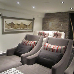 contemporary media room by NathalieTremblay - Atelier Cachet