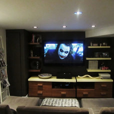 Contemporary Home Theater by NathalieTremblay - Atelier Cachet