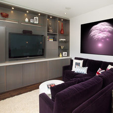 Modern Home Theater by NIKKA DESIGN
