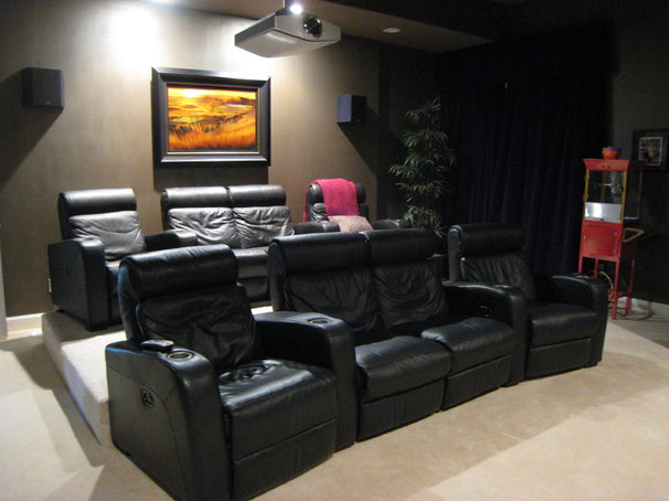 Contemporary Home Theater by Pangaea Interior Design, Portland, OR