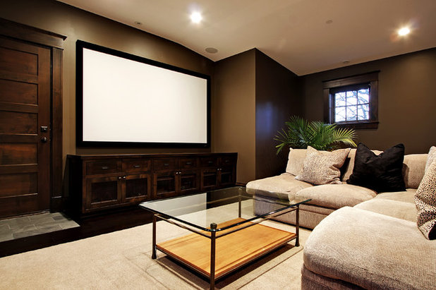 American Traditional Home Theater by Paul Moon Design
