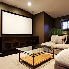 Contemporary Home Theater by Paul Moon Design