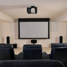 Modern Home Theater by London Audio Ltd