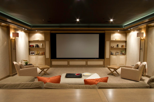 Contemporary Home Theater by SBK Partnership, LLC - ARCHITECTURE