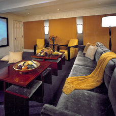 Contemporary Home Theater by SemelSnow Interior Design, Inc.