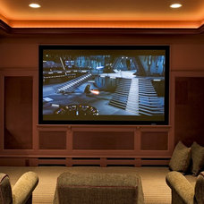 traditional media room by Smith & Vansant Architects PC