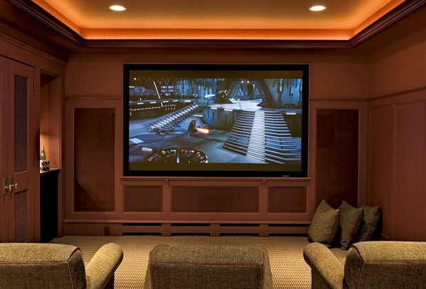 Traditional Home Theater by Smith & Vansant Architects PC