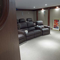 contemporary media room by Stebnitz Builders