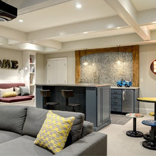 Contemporary Home Theater by The Consulting House Inc.