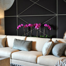 Contemporary Home Theater by Janet Paik