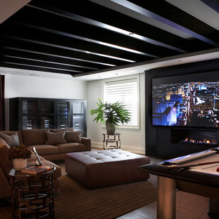 """Media Room with 1080P projector and 119"""" retractable screen"""