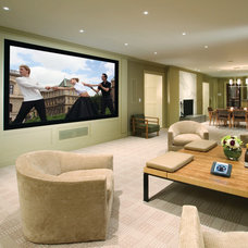 Contemporary Home Theater by Electronics Design Group, Inc.