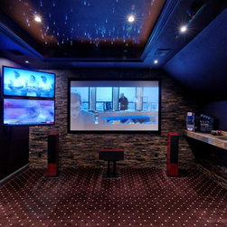 dallas tray ceiling home theater design ideas pictures remodel and