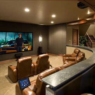 Example of a classic home theater design in Denver