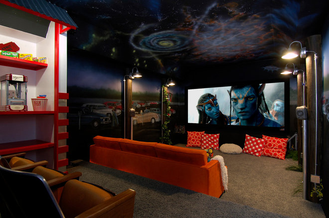 Eclectic Home Theater by Colorado Media Systems