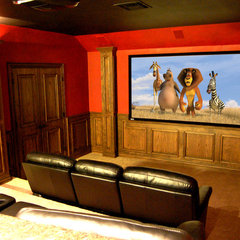 traditional media room by Modern Craft Construction, LLC
