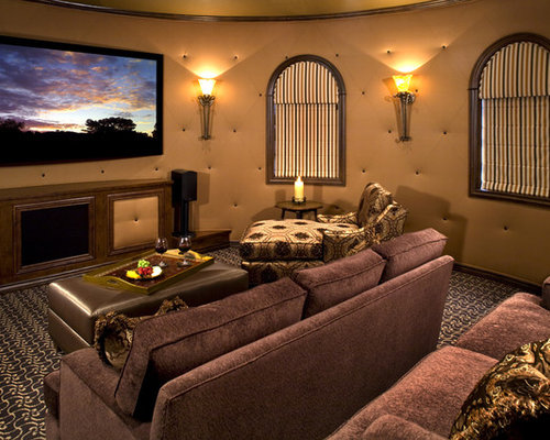Inspiration For A Mediterranean Home Theater Remodel In Phoenix