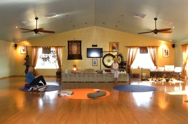Eclectic Home Theater by Sarah Greenman