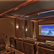 Mediterranean Home Theater by Jeff Fotheringill