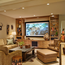 Contemporary Home Theater by Lakeville Homes